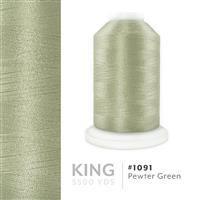Pewter Green # 1091 Iris Trilobal Polyester Machine Embroidery & Quilting Thread - 5500 Yds THUMBNAIL