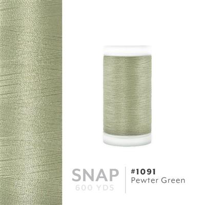 Pewter Green # 1091 Iris Polyester Embroidery Thread - 600 Yd Snap Spool MAIN