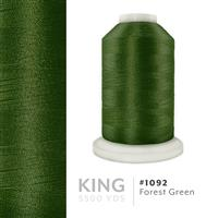 Forest Green # 1092 Iris Trilobal Polyester Machine Embroidery & Quilting Thread - 5500 Yds THUMBNAIL