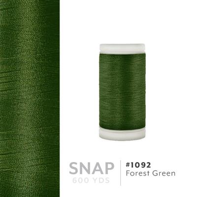 Forest Green # 1092 Iris Polyester Embroidery Thread - 600 Yd Snap Spool MAIN