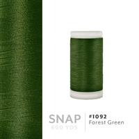 Forest Green # 1092 Iris Polyester Embroidery Thread - 600 Yd Snap Spool THUMBNAIL