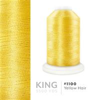 Yellow Hair # 1100 Iris Trilobal Polyester Machine Embroidery & Quilting Thread - 5500 Yds THUMBNAIL