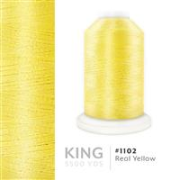 Real Yellow # 1102 Iris Trilobal Polyester Machine Embroidery & Quilting Thread - 5500 Yds THUMBNAIL