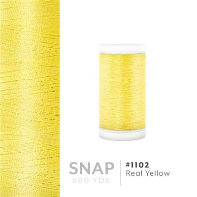 Real Yellow # 1102 Iris Polyester Embroidery Thread - 600 Yd Snap Spool MAIN