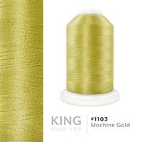 Machine Gold # 1103 Iris Trilobal Polyester Machine Embroidery & Quilting Thread - 5500 Yds THUMBNAIL