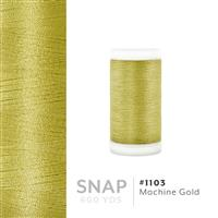 Machine Gold # 1103 Iris Polyester Embroidery Thread - 600 Yd Snap Spool THUMBNAIL
