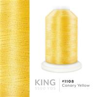 Canary Yellow # 1108 Iris Trilobal Polyester Machine Embroidery & Quilting Thread - 5500 Yds THUMBNAIL