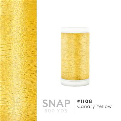 Canary Yellow # 1108 Iris Polyester Embroidery Thread - 600 Yd Snap Spool MAIN