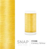 Canary Yellow # 1108 Iris Polyester Embroidery Thread - 600 Yd Snap Spool THUMBNAIL