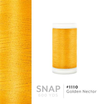 Golden Nectar # 1110 Iris Polyester Embroidery Thread - 600 Yd Snap Spool MAIN