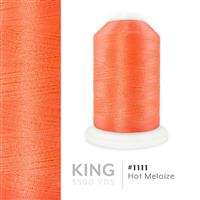 Hot Melaize # 1111 Iris Trilobal Polyester Machine Embroidery & Quilting Thread - 5500 Yds THUMBNAIL
