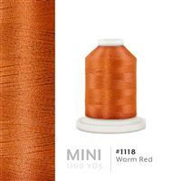Warm Red # 1118 Iris Polyester Embroidery Thread - 1100 Yds THUMBNAIL