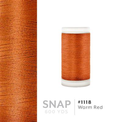 Warm Red # 1118 Iris Polyester Embroidery Thread - 600 Yd Snap Spool MAIN