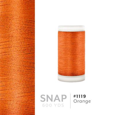 Orange # 1119 Iris Polyester Embroidery Thread - 600 Yd Snap Spool MAIN