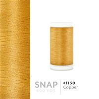 Copper # 1130 Iris Polyester Embroidery Thread - 600 Yd Snap Spool THUMBNAIL