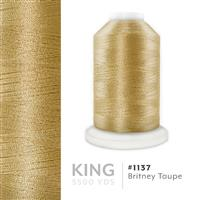 Britney Taupe # 1137 Iris Trilobal Polyester Machine Embroidery & Quilting Thread - 5500 Yds THUMBNAIL