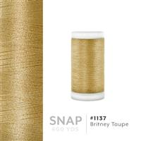 Britney Taupe # 1137 Iris Polyester Embroidery Thread - 600 Yd Snap Spool THUMBNAIL