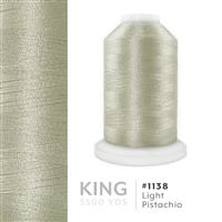 Lt. Pistachio # 1138 Iris Trilobal Polyester Machine Embroidery & Quilting Thread - 5500 Yds THUMBNAIL