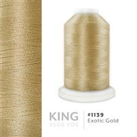 Exotic Gold # 1139 Iris Trilobal Polyester Machine Embroidery & Quilting Thread - 5500 Yds THUMBNAIL
