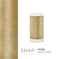 Exotic Gold # 1139 Iris Polyester Embroidery Thread - 600 Yd Snap Spool THUMBNAIL