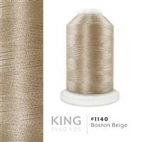 Boston Beige # 1140 Iris Trilobal Polyester Machine Embroidery & Quilting Thread - 5500 Yds THUMBNAIL