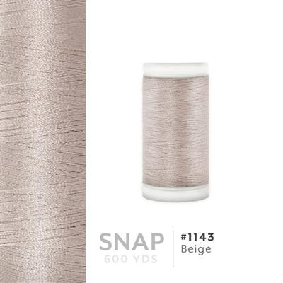 Beige # 1143 Iris Polyester Embroidery Thread - 600 Yd Snap Spool MAIN