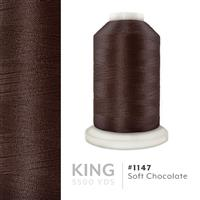 Soft Chocolate # 1147 Iris Trilobal Polyester Machine Embroidery & Quilting Thread - 5500 Yds THUMBNAIL