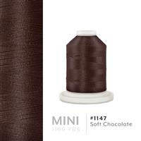 Soft Chocolate # 1147 Iris Polyester Embroidery Thread - 1100 Yds THUMBNAIL