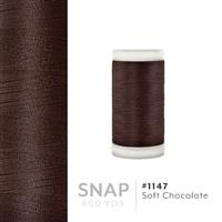 Soft Chocolate # 1147 Iris Polyester Embroidery Thread - 600 Yd Snap Spool THUMBNAIL