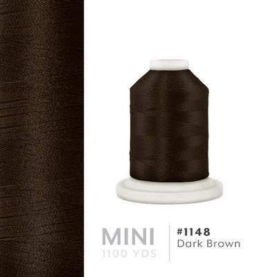 Dark Brown # 1148 Iris Polyester Embroidery Thread - 1100 Yds MAIN