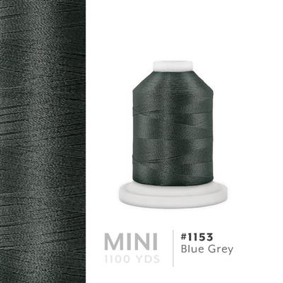 Blue Grey # 1153 Iris Polyester Embroidery Thread - 1100 Yds MAIN