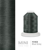 Blue Grey # 1153 Iris Polyester Embroidery Thread - 1100 Yds THUMBNAIL
