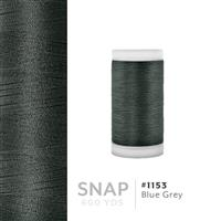 Blue Grey # 1153 Iris Polyester Embroidery Thread - 600 Yd Snap Spool THUMBNAIL
