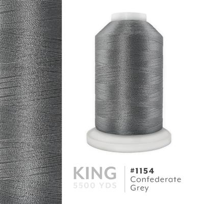 Confederate Gray # 1154 Iris Trilobal Polyester Thread - 5500 Yds MAIN