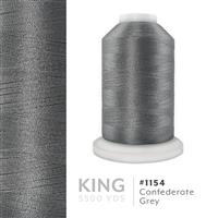 Confederate Gray # 1154 Iris Trilobal Polyester Machine Embroidery & Quilting Thread - 5500 Yds THUMBNAIL