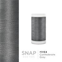 Confederate Grey # 1154 Iris Polyester Embroidery Thread - 600 Yd Snap Spool THUMBNAIL