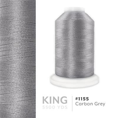 Carbon Grey # 1155 Iris Trilobal Polyester Thread - 5500 Yds MAIN
