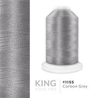 Carbon Grey # 1155 Iris Trilobal Polyester Machine Embroidery & Quilting Thread - 5500 Yds THUMBNAIL