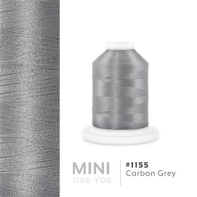 Carbon Grey # 1155 Iris Polyester Embroidery Thread - 1100 Yds MAIN