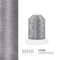 Carbon Grey # 1155 Iris Polyester Embroidery Thread - 1100 Yds THUMBNAIL