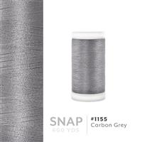 Carbon Grey # 1155 Iris Polyester Embroidery Thread - 600 Yd Snap Spool THUMBNAIL
