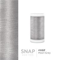 Pearl Grey # 1157 Iris Polyester Embroidery Thread - 600 Yd Snap Spool THUMBNAIL