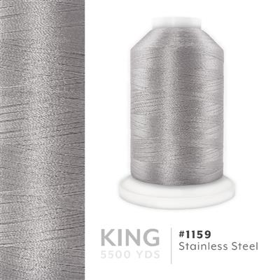 Stainless Steel # 1159 Iris Trilobal Polyester Thread - 5500 Yds MAIN