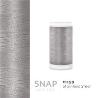 Stainless Steel # 1159 Iris Polyester Embroidery Thread - 600 Yd Snap Spool THUMBNAIL