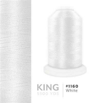 White # 1160 Iris Trilobal Polyester Thread - 5500 Yds MAIN