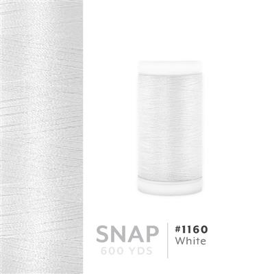 White # 1160 Iris Polyester Embroidery Thread - 600 Yd Snap Spool MAIN