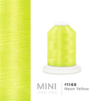 Neon Yellow # 1166 Iris Polyester Embroidery Thread - 1100 Yds MAIN