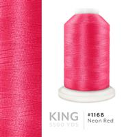 Neon Red # 1168 Iris Trilobal Polyester Machine Embroidery & Quilting Thread - 5500 Yds THUMBNAIL