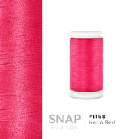 Neon Red # 1168 Iris Polyester Embroidery Thread - 600 Yd Snap Spool THUMBNAIL