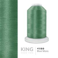 Blue Moss # 1180 Iris Trilobal Polyester Machine Embroidery & Quilting Thread - 5500 Yds THUMBNAIL